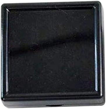 ルースケース ジュエリートレイ 四角 ダイヤモンド 小物入れ 収納 3cm 4cm 5cm 黒 白 - ブラック4×4cm