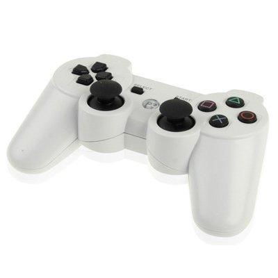 PlayStation3 プレステ3 無線コントローラー ワイヤレスコントローラー 全5色 PS3用 サードパーティ製 PS3コントローラ 互換コントローラー ホワイト【白】 zak-ps3cnt-whの商品画像