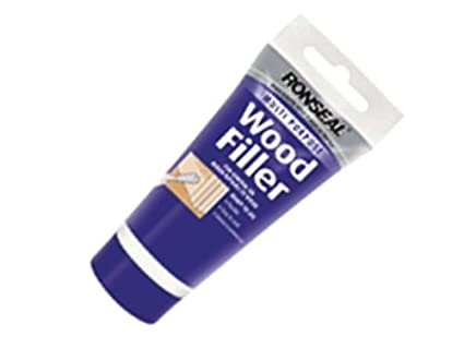 Ronseal RSLMPWFL250G 100g Multi-Purpose Wood Filler Tube - White RSLMPWFW100G