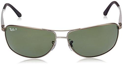 61mm Gunmetal Ray de Homme RB3506 Green Grey Pour Black Argent Lunettes soleil Ban pRqrW7Bp