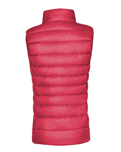 Warmers Down Standing Vest Jacket Red Puffer Body AnyuA Women's Sleeveless Padded Coat Gilets Collar YHAaaq