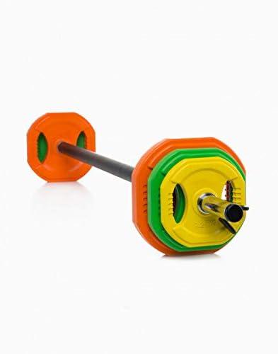 6X Discos Goodbuy Set Body Pump 28mm Conjunto Completo para Fitness 2X Topes 1x Barra 1,40m Entrenamiento en el Hogar