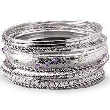 12 Bangle Set - Lenox Bracelet Silver-Plated 12-piece Bangle Bracelet Set