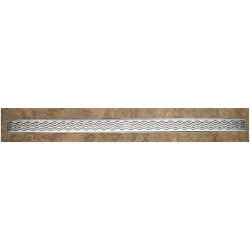ACO 37240 Quartz Plus 4-Feet Wavy Grate Design by ACO Polymer Products