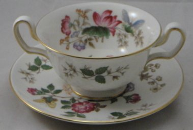 Wedgwood Charnwood Cream Soup And Saucer Set (Footed)