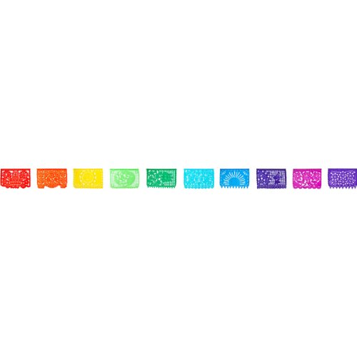 Mexican 13 Foot Cut Out Designs Multicolor