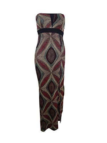 BCBGeneration Women's Metallic Strapless Evening Dress, Multi Color Combo, 8