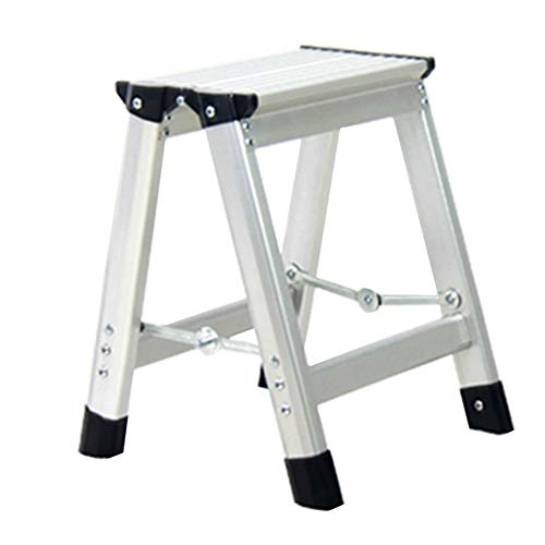 HAIPENG Step Stool Aluminum Alloy 1-3 Step Folding Dual-use Portable Thickening Ladder Indoor, 2 Colors (Color : Black -1 Step)