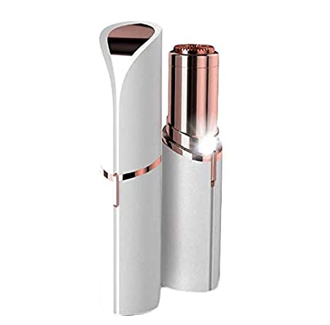 Women's Electric Shavers, Mini Electric Hair Remover Lipstick Shape Epilator Women Body Face Hair Removal Tool Painless Lady Shaver Wet Dry Use (Red) stainless steel blade + ABS body