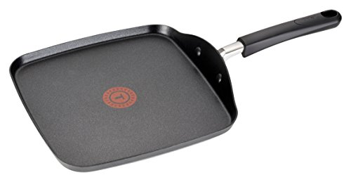 T-fal C03713 OptiCook Hard Anodized Thermo-Spot Scratch Resistant Titanium Nonstick Oven Safe PFOA Free Square Griddle Cookware, 10.25-Inch, Black (Hard Anodized Square Griddle compare prices)