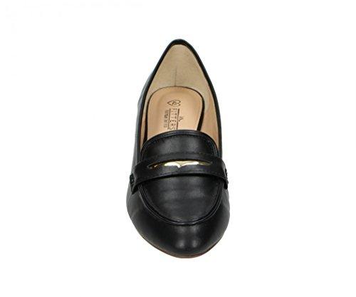 Fitters Footwear - Bailarinas de Terciopelo para mujer negro Black Pu