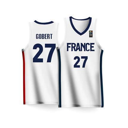 HS-XP Rudy Gobert # 27 Camiseta de Hombre del Equipo de Francia ...
