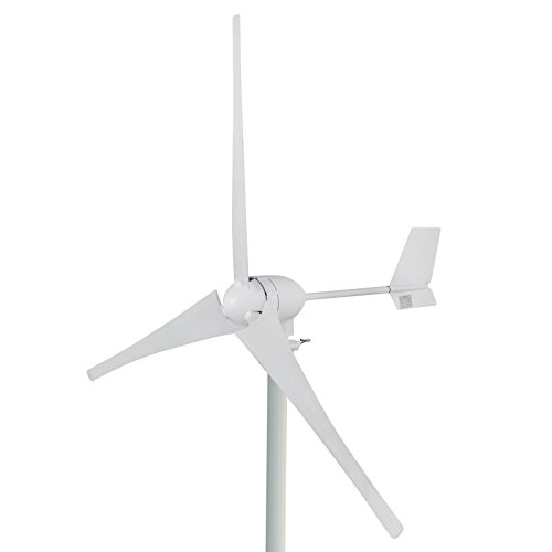 Happybuy Wind Turbine Generator 700W DC 24V Businesses 3 Blade with Controller for Marine RV Homes...