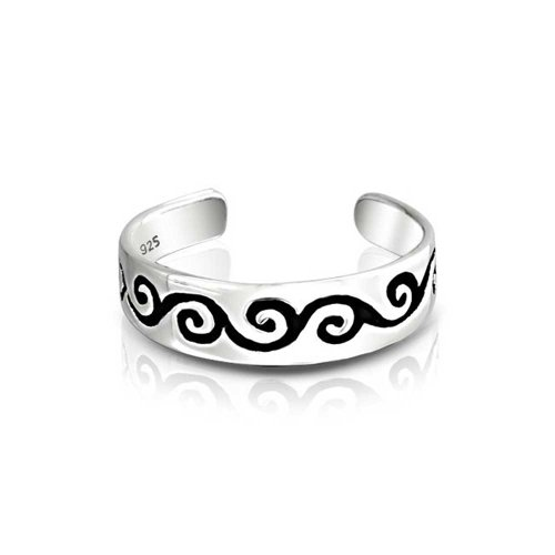 silver scroll ring - 7