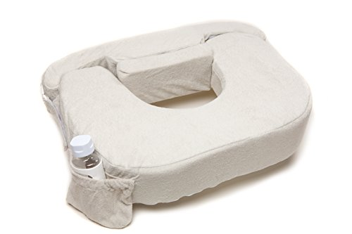 My Brest Friend Twin Nursing Pillow Deluxe Slipcover - Machine Washable Breastfeeding Cushion Cover - Pillow not Included, Heather (Light Grey)