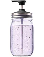 "Jarware 82650 Soap Pump for Regular Mouth Mason Jars, 6"", Black"