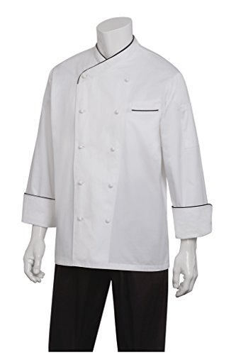 Chef Works Men's Monte Carlo Executive Chef Coat (ECCB) by Chef Works