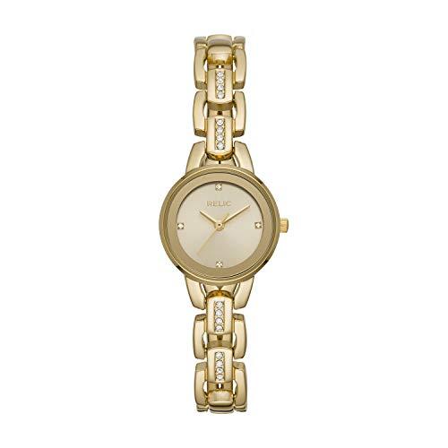 Relic by Fossil Women's Caroline Quartz Metal Dress Watch, Color: Gold (Model: ZR34543)