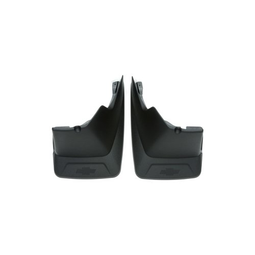 GM # 19154413 Splash Guards - Rear Molded Set - Black Grained with Chevy Bowtie Logo