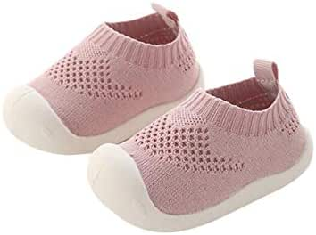 DEBAIJIA Baby First-Walking Shoes 1-4 Years Kid Shoes Trainers Toddler Infant Boys Girls Soft Sole Non Slip Cotton Canvas Mesh Breathable Lightweight TPR Material Slip-on Sneakers Outdoor