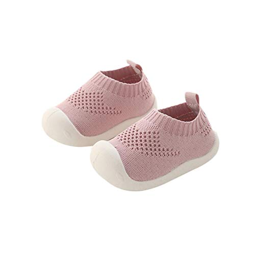 Infants Leather Trainers - DEBAIJIA Baby First-Walking Shoes 1-4 Years Kid Shoes Trainers Toddler Infant Boys Girls Soft Sole Non Slip Mesh Breathable Lightweight TPR Material Slip-on Sneakers Outdoor