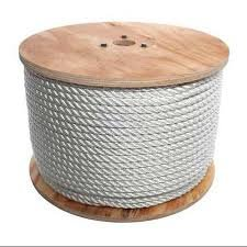 EVERSTRONG 100% Nylon Twisted Rope in 600 Ft spool x various sizes, 3/16'', 1/4'', 5/16'',3/8'',1/2'', 5/8'',3/4'',7/8'',x'',1-1/8'',x1-1/4'',1-1/2'' (3/8'')