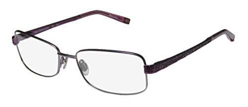 Trussardi 12706 Mens/Womens Prescription Ready Latest Collection Designer Full-rim Spring Hinges Eyeglasses/Spectacles (54-17-135, Lavender / - Fashion Spectacle Frames Latest