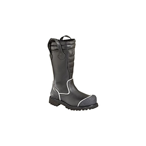 Women's Thorogood 14 inch Power HV Structural Firefighter Reflective Bunker Boots, BLACK, 9 by Thorogood