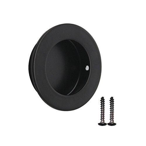Modern Black Round Diameter 50mm Flushed Pulls Doors Drawer Handles 304 Stainless Steel Flushed Pulls for Drawers Cabinet Recessed Knobs, Kids' Furniture Drawer Handles & Pulls