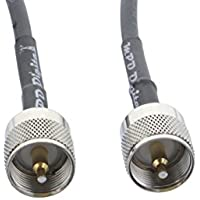 MPD Digital RG58-PL259-PL-259-male-8FT RG58 coaxial cable pigtail jumper with UHF PL-259 male connectors MILSPEC MIL-C-17 RF coaxial cable (8 FT.)