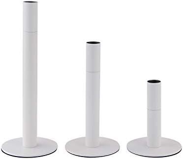 VINCIGANT Set of 3 White Candlestick Holders