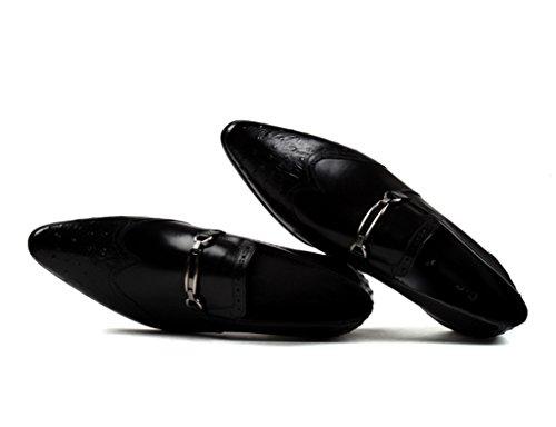 Puntiagudos Clásicos Tamaño Zapatos Cuero de Formal Negro Ropa Red Zapatos Color Hombre Brown UK6 Hombres Negocios de Zapatos Piel EU39 Boda de para para a7dcOa4qR