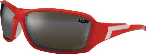 2012 Lazer Xenon Cycling Glasses Matte Red w/ Smoke Silver Lens.