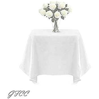 Merveilleux GFCC 72 X 72  Inch White Square Polyester Tablecloth