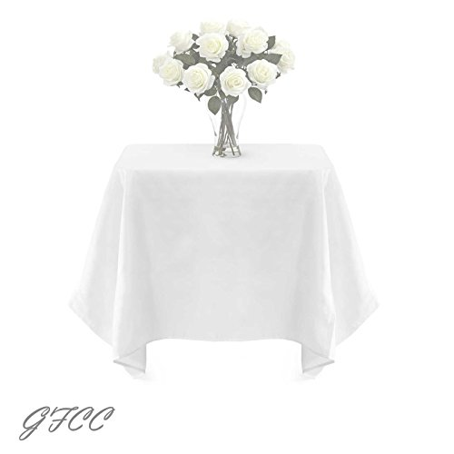 GFCC 90 x 90 -inch White Polyester Tablecloth
