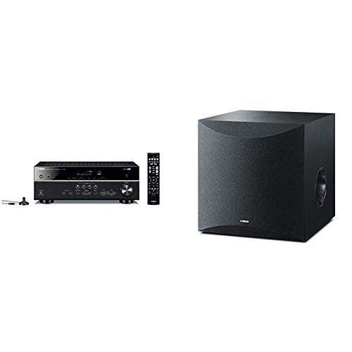 Cheap Yamaha RX-V385 5.1-Channel 4K Ultra HD AV Receiver with Bluetooth & 10 100W Powered Subwoofer...