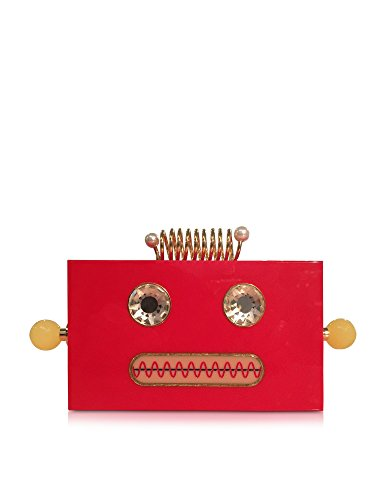 CHARLOTTE OLYMPIA WOMEN'S P1630111155 RED PLASTIC CLUTCH