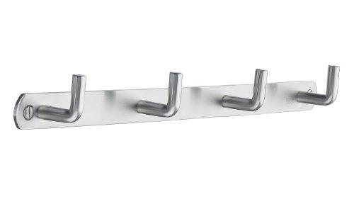 Smedbo B1054 Quadruple Coat Rack, Brushed Stainless Steel ()
