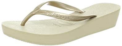 Havaianas Women's High Light Flip Flop,Sand Grey/Light Golden,38 BR/8-9 M US
