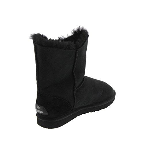 Koolaburra Halo Boot Double Suede Snow Short Black Women's rRZ17Ur