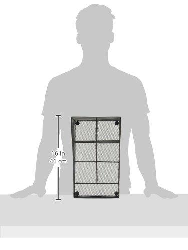 Mind Reader COMP7MESH-BLK Condiment Organizer Storage, Black Metal Mesh by Mind Reader (Image #7)