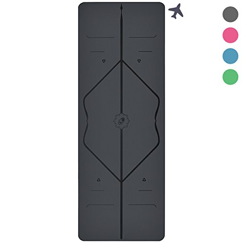 Liforme The Travel Yoga Mat, Light and Portable, Non Slip Alignment Yoga Mat