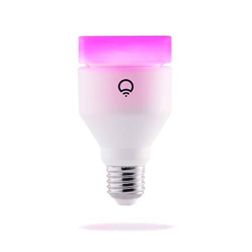 LIFX A19 Wi-Fi Smart LED Light Bulb, Color Changing, Dimmable, No Hub Required, App and Voice Control, Works with Amazon Alexa, Apple HomeKit, Google Assistant, and Microsoft Cortana