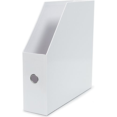 Darice Vertical Paper Holder, White (1pc)-Store and Organize 12