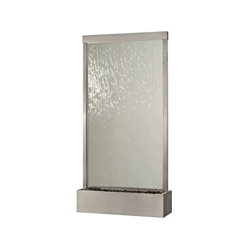 (8' Waterfall Grande by Bluworld Stainless Steel Frame w Clear Glass)