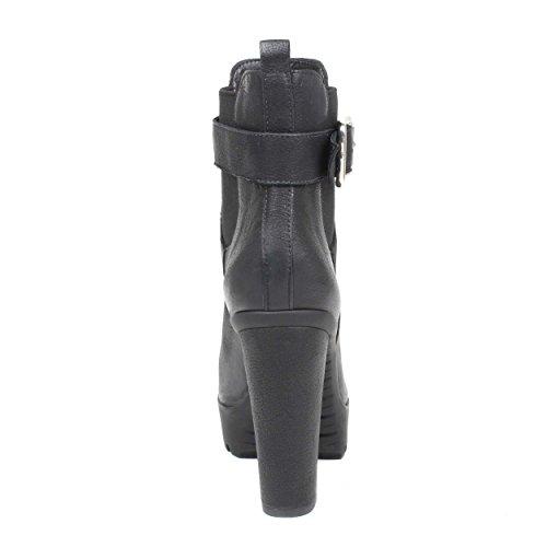 Schutz 43040002 - Botines para mujer, con tacón ancho Black
