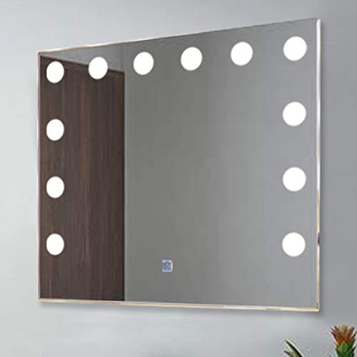 Chende Hollywood Vanity Mirror with 12 LED Lights and Touch Control Dimmer, -