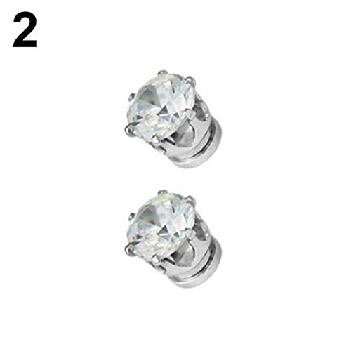1 Pair of Magnet Earrings Popular Clip No Piercing Men's and Women's Popular Jewelry Party by AxiEr (Image #4)
