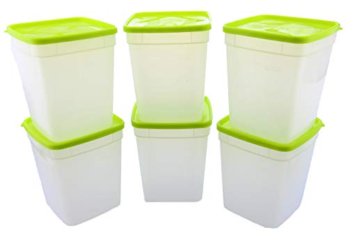 - Arrow Reusable Plastic Storage Container Set, 6 Pack, 1 Quart / 4 Cup Each - Food, Meal Prep, Leftovers - Freeze, Store, Reheat - Clear Container Set With Lids - BPA-Free, Dishwasher / Microwave Safe