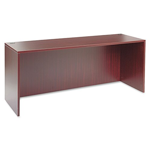 encia Series 72 by 24 by 29-1/2-Inch Credenza Shell, Mahogany Frame/Top (Return Bridge Unit)